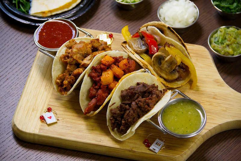 LV Taco - Chicken, Pork, Steak, & Veggie Tacos